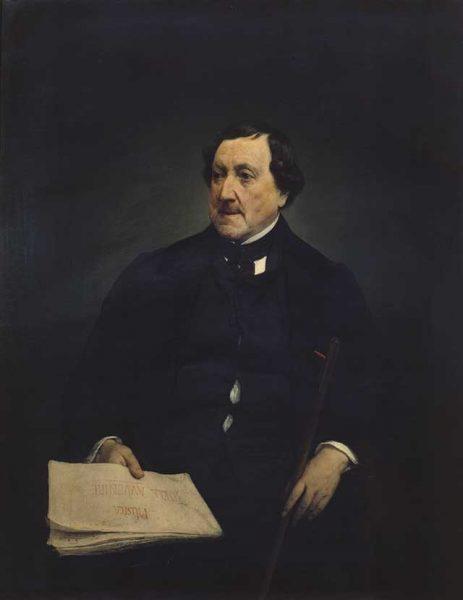 Francesco Hayez<br><em>Ritratto di Gioacchino Rossini</em>, 1870