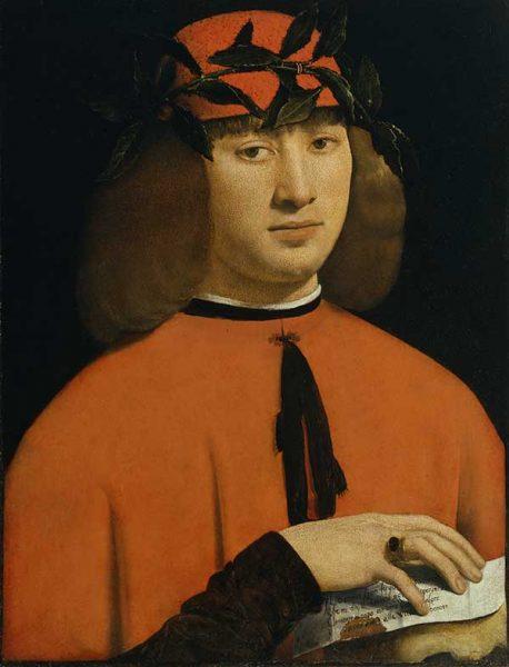 Giovanni Antonio Boltraffio (Milano 1467–1516), Ritratto di giovane, 1500 circa, olio su tavola. Acquisto 1902