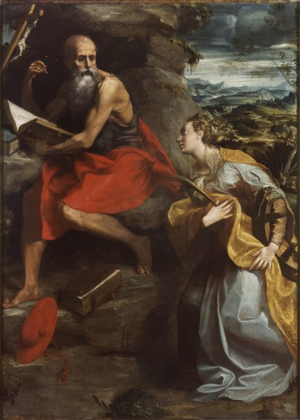 St. Jerome and St. Catherine of Alexandria