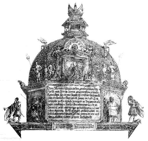 Hans Springinklee, da Albrecht Dürer. Cupola della torre centrale