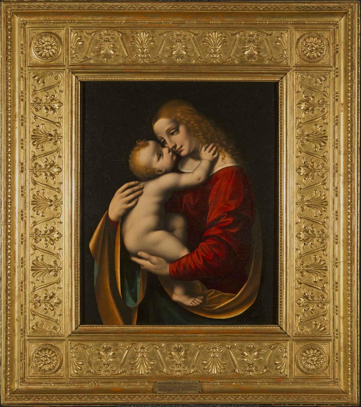 Pinacoteca-di-Brera-Restauro-Marco-dOggiono-Madonna-con-Bambino-cornice