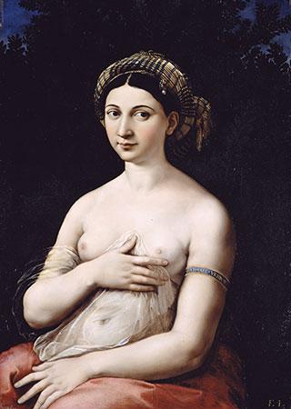 La Fornarina, Raffaello Sanzio, 1520 circa (Palazzo Barberini, Roma)