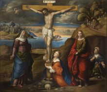 The Crucifixion with the Virgin, St. Mary Magdalene, St. John the Evangelist and St. Vitus