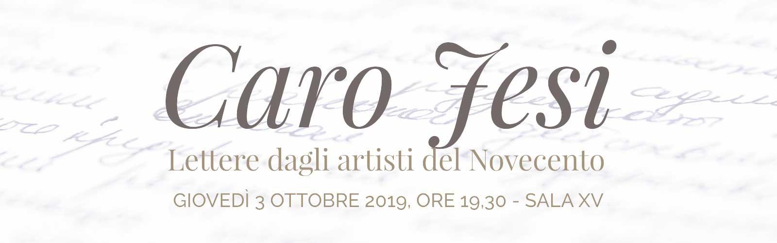 Caro Jesi. Lettere dagli artisti del Novecento<br>Mario Mafai – Scipione – Ottone Rosai