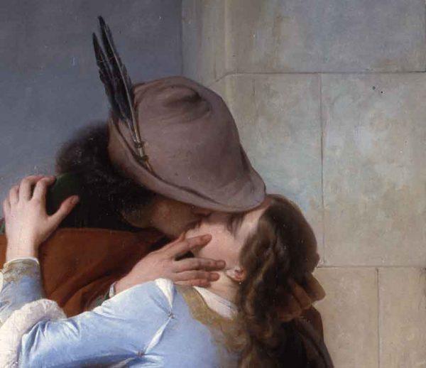 Il Bacio Hayez dettaglio cappello