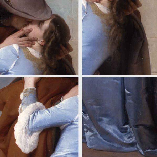 Francesco Hayez, Il Bacio, dettagli della protagonista
