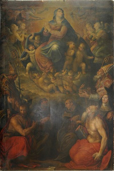 1. Prospero Fontana, Vergine Assunta e Santi – prima del restauro