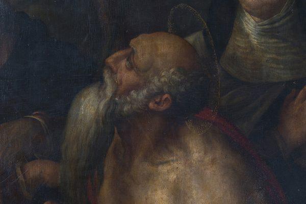 6. Particolare in luce visibile, si evidenzia l'ingiallimento della vernice.