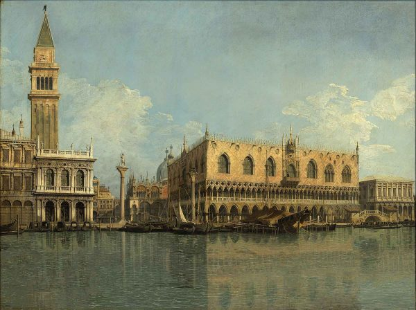 Veduta del bacino di San Marco dalla Punta della Dogana;<br>Bacino S. Marco Disoccupato